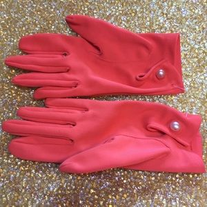 Vintage Orange Gloves